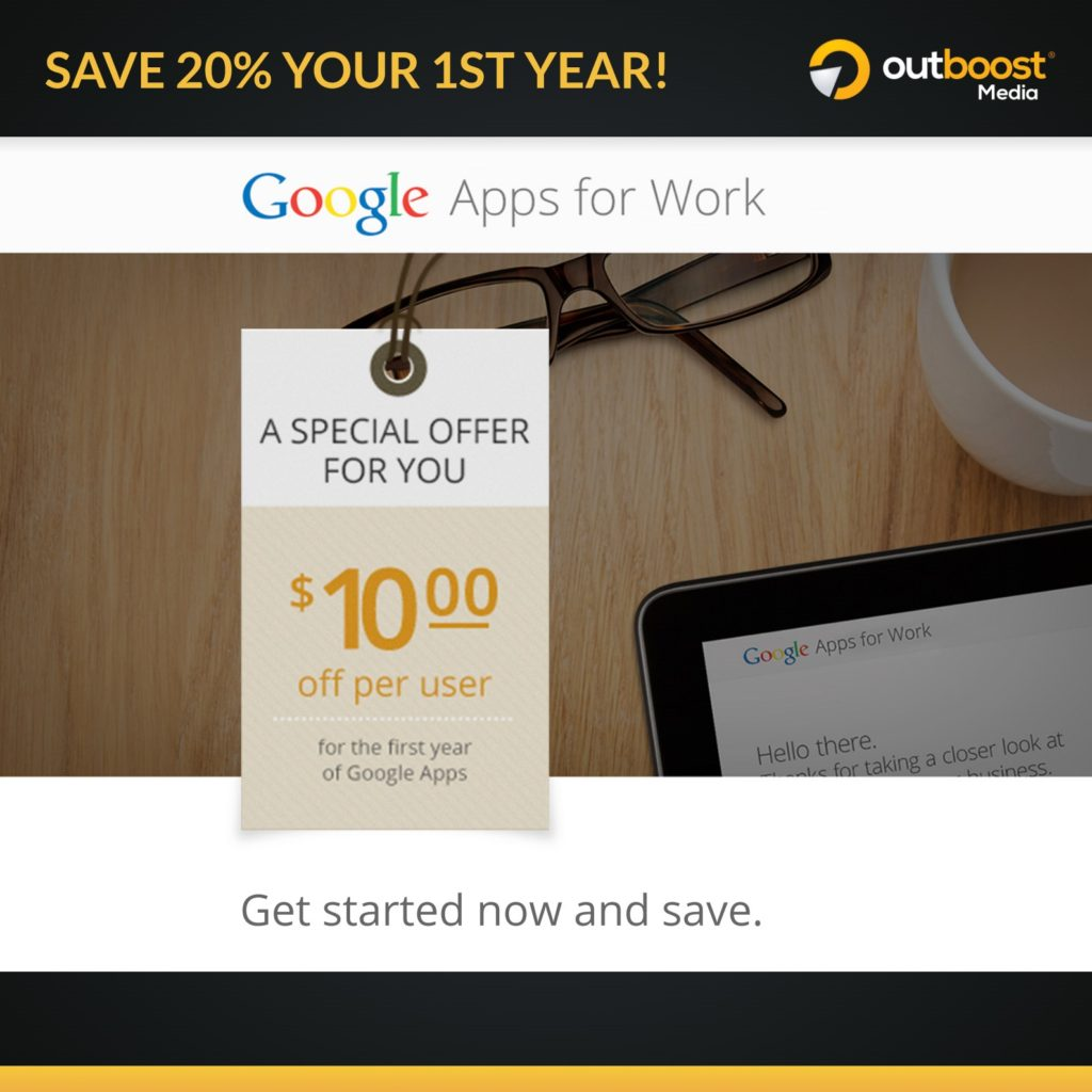 google apps for business promo 20 off
